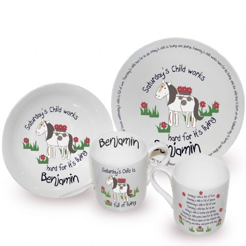Personalised Saturdays Child Breakfast Set